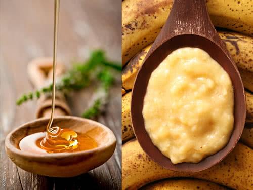 Маска для волос из меда и бананами